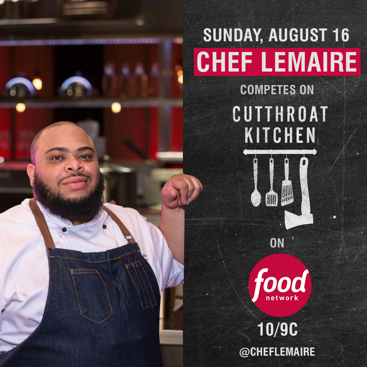 haitian chef lemaire to compete on cutthroat kitchen august 9th - Cutthroat Kitchen
