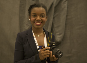 Nathalie Dortonne, University of Florida visual journalism student. (Huyan Jiang/ONA Student Newsroom)