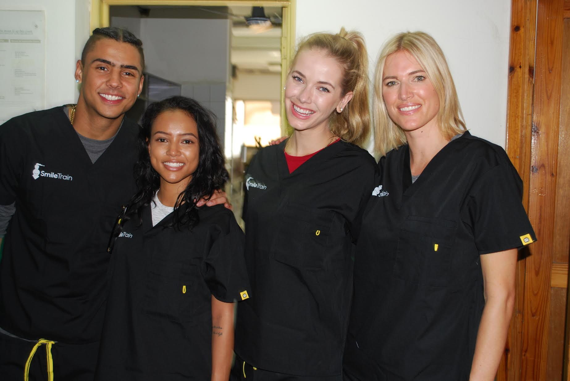 Quincy Brown, Karrueche Tran, Miss USA Olivia Jordan and Kristen Taekman were dressed and ready to see Smile Train's local surgeons perform life-changing cleft surgeries firsthand.
