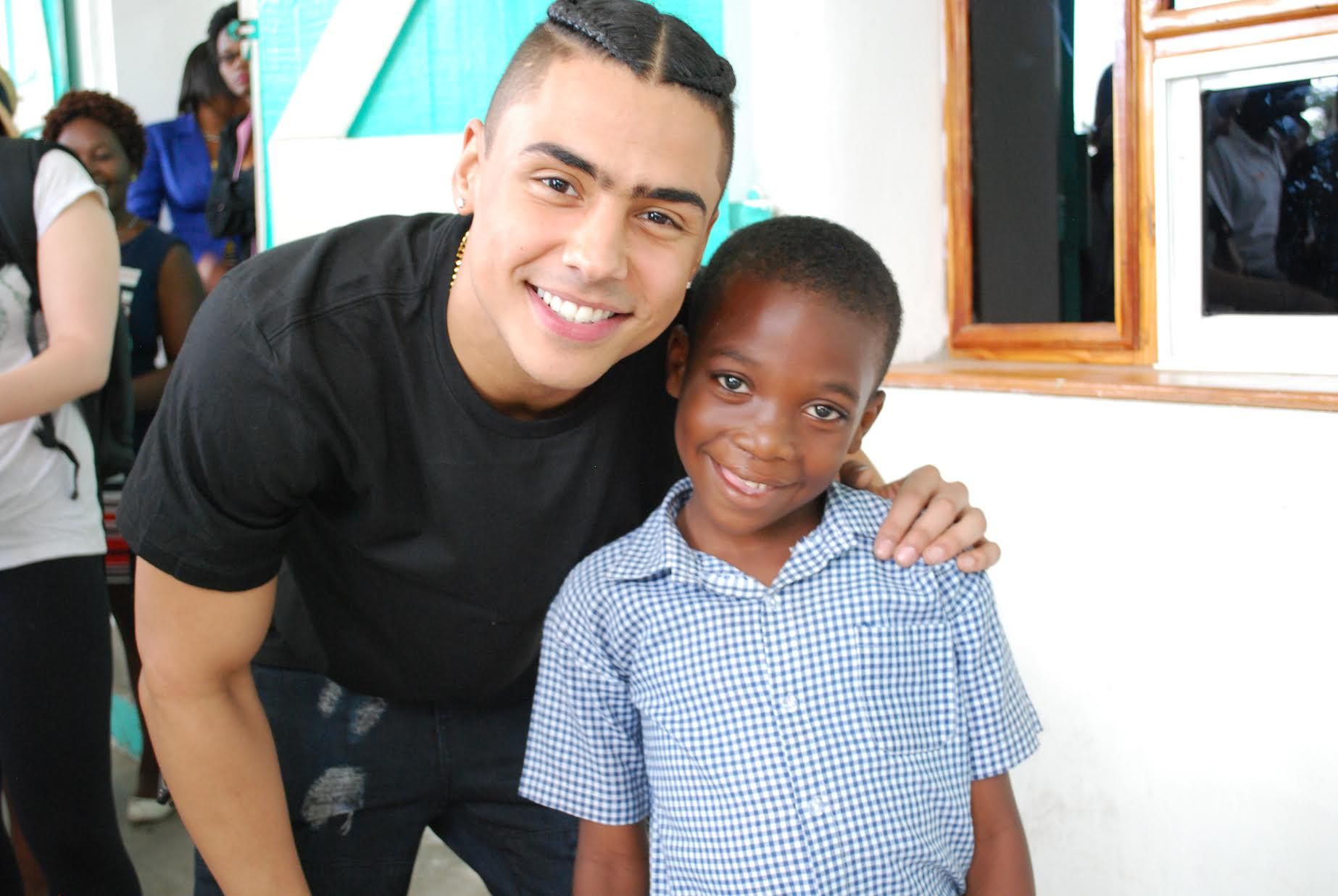 Quincy Brown with Smile Train patient in Cap-Haitien, Haiti.