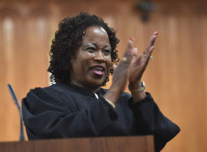 Images of the Investiture Ceremony for new St. Lucie County Judge Nirlaine Tallandier Smartt at the St. Lucie County Courthouse in Fort Pierce on Friday August 14, 2015. (ERIC HASERT/TREASURE COAST NEWSPAPERS)