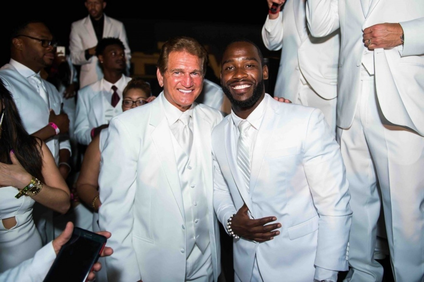 Super Bowl champ Joe Theismann and Pierre Garçon. (Joy Asico)