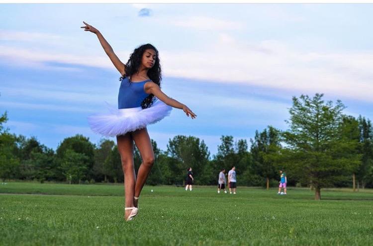 """Carefree"" Photo: Haitian Ballerina Sasha Manuel | @sasha_ballerina instagram"